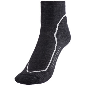 Icebreaker Hike+ Light Mini Socks Women jet heather/snow/black